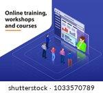 online training  workshops and... | Shutterstock .eps vector #1033570789