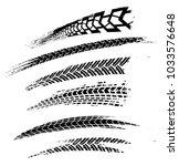 motorcycle tire tracks vector... | Shutterstock .eps vector #1033576648