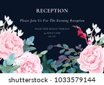 floral wedding invitation... | Shutterstock .eps vector #1033579144