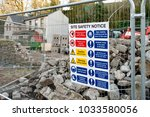 """site safety notice"" sign... 