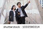 asian young businessman has...   Shutterstock . vector #1033580314