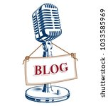 recorder microphone vector... | Shutterstock .eps vector #1033585969