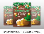 realistic st.patrick's day...   Shutterstock .eps vector #1033587988