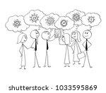 cartoon stick man drawing... | Shutterstock .eps vector #1033595869