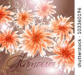 wedding card or invitation with ... | Shutterstock .eps vector #103360196