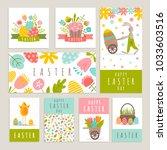 easter day labels set.... | Shutterstock .eps vector #1033603516