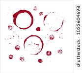 vector wine glass stain circle  ... | Shutterstock .eps vector #1033604698