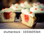 coffee and cakes | Shutterstock . vector #1033605364