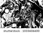black and white liquid texture. ... | Shutterstock .eps vector #1033606600