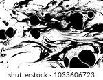black and white liquid texture. ... | Shutterstock .eps vector #1033606723
