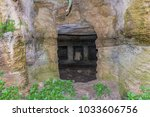 entrance to the funerary cave.... | Shutterstock . vector #1033606756