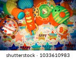 toys for baby  background   Shutterstock . vector #1033610983