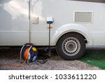 motorhome with connected... | Shutterstock . vector #1033611220