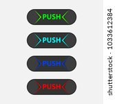 set of multicolored push...   Shutterstock .eps vector #1033612384
