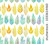 floral seamless pattern with... | Shutterstock . vector #1033614460