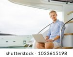 luxury traveling and working.... | Shutterstock . vector #1033615198