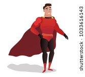 superhero men vector cartoon...   Shutterstock .eps vector #1033616143