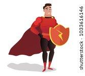 superhero men vector cartoon...   Shutterstock .eps vector #1033616146