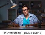student preparing for exams...   Shutterstock . vector #1033616848