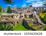 panoramic view of the ancient... | Shutterstock . vector #1033620628
