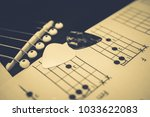 acoustic guitar background | Shutterstock . vector #1033622083