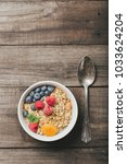 homemade granola with dried... | Shutterstock . vector #1033624204