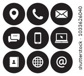 contact us icons | Shutterstock .eps vector #1033626040