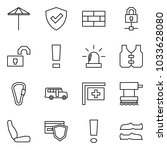 flat vector icon set   umbrella ... | Shutterstock .eps vector #1033628080