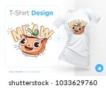 funny cat. print on t shirts ... | Shutterstock .eps vector #1033629760
