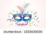 carnival lettering with... | Shutterstock . vector #1033630030
