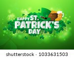 realistic st. patrick's day... | Shutterstock .eps vector #1033631503