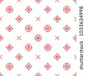 seamless embroidered texture of ... | Shutterstock .eps vector #1033634998