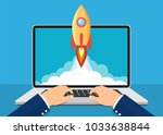 successful startup business... | Shutterstock .eps vector #1033638844