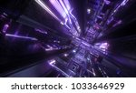 3d render  abstract futuristic... | Shutterstock . vector #1033646929