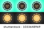 set of black and golden sale... | Shutterstock .eps vector #1033648969