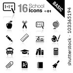 basic   school icons | Shutterstock .eps vector #103365194