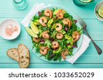fresh healthy avocado and... | Shutterstock . vector #1033652029