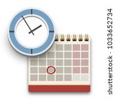 calendar and clock icon.... | Shutterstock .eps vector #1033652734
