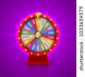 wheel of fortune roulette for...   Shutterstock .eps vector #1033654579