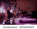 luxury table settings for fine... | Shutterstock . vector #1033654819
