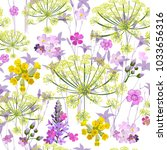 fashionable floral pattern in... | Shutterstock .eps vector #1033656316