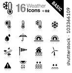 basic   weather icons | Shutterstock .eps vector #103366109