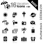 basic   vacation icons | Shutterstock .eps vector #103366154