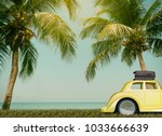 cars on the road travel holiday ... | Shutterstock . vector #1033666639