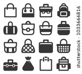 bag icons set | Shutterstock . vector #1033666816