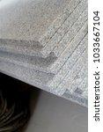 piece of natural stone shelves   Shutterstock . vector #1033667104