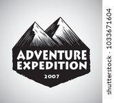 logo design for mountain sport...   Shutterstock .eps vector #1033671604