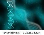 2d render of dna structure ... | Shutterstock . vector #1033675234