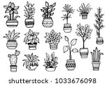 set of different hand drawn... | Shutterstock .eps vector #1033676098