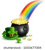 beautyful st.patrick's day... | Shutterstock .eps vector #1033677304